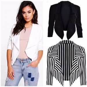 ZOGAA New Black Whit Blazer Women Stripe Suits Feminino Sexy Cardigan Long Sleeve Women Blazers and Jackets Autumn Winte