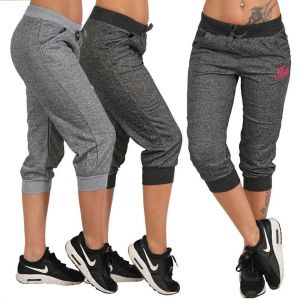 ZOGAA Women Summer Pants Sports Trousers Hoody Pants Mid Waist Capri Calf-Length Pockets S-XXXL