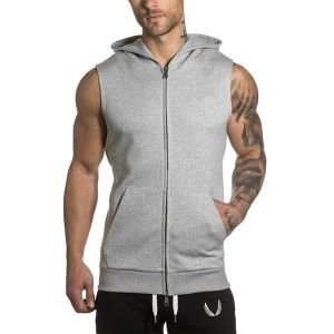 Zogaa 2019 Summer Sleeveless Mens Hoodies Fitness Jogging Sweatshirts Men Streetwear Supreme Hoodie Black Hoodie Plus Si