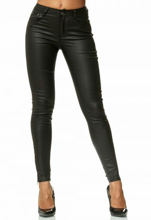ZOGAA Autumn Women Leather Pants Women Female Winter High Waiste Pants Leather Trousers Women PU Skinny Stretch Pencil P