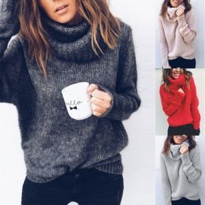 ZOGAA 2019 New winter dresses women 2018 oversized sweater turtleneck winter clothes women women sweater plus size 5XL
