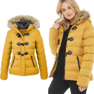 ZOGAA winter jacket women 2019 Snow Coat Women Casual Fur Collar Horn Buckle Slim Oversize Female Jacket Overcoat Warm P