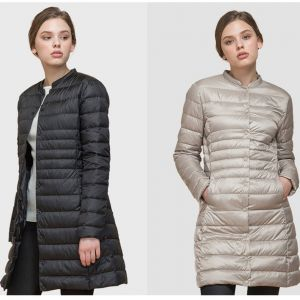 ZOGAA Woman Spring Padded Warm Coat Ultra Light Duck Down Jacket Long Overcoat Slim Solid Jackets Portable Parkas jacket