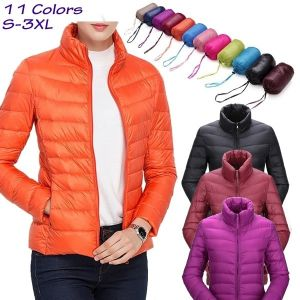 ZOGAA Women's Parkas Winter Jacket Coat For Woman Casual Solid Stand Collar Parka Jackets Female Cotton Coat Slim Fit Ou