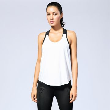 ZOGAA Women Sleeveless Fitness Vest Exercise Workout Sports T-Shirts Fitness Running Sport Vest Solid Top Gym Clothing T